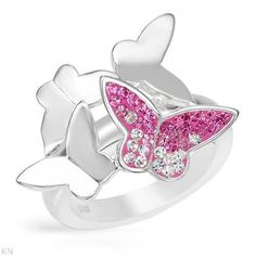 Sterling Silver Crystal Ladies Ring. Ring Size 6. Total Item weight 8.0 g. VividGemz. $27.00