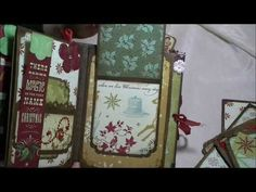 """▶ Christmas Mini Album using K&Co """"Evergreen"""" paper - could use different paper style. Doesn't have to be Christmas."""