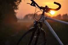Corratec Sunset bicycle at sunset
