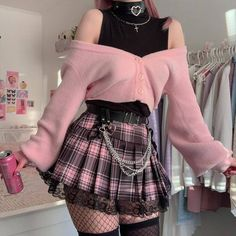 Swaggy Outfits, Edgy Outfits, Teen Fashion Outfits, Cute Casual Outfits, Pretty Outfits, Girl Outfits, Pastel Goth Outfits, Pastel Goth Fashion, Kawaii Fashion