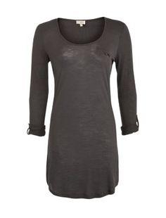 Grey Roll Sleeve Tunic