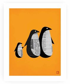 Penguin News Printspace Art Print Nicholas Girling newspaper collage Penguin Images, Penguin Art, Penguin Love, Penguin Books, Tarjetas Diy, Newspaper Crafts, Newspaper Collage, Newspaper Search, Inspiration Art