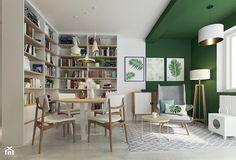 Mali dnevni boravak: šest boja koje će vizualno povećati prostor - Indizajn s Mirjanom Mikulec Living Room And Dining Room Design, Corner Desk, Bookcase, Shelves, Furniture, Styl Boho, Home Decor, Interiors, Living Room Paint
