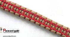 Ladder stitched paracord bracelet.