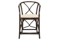 Layla Rattan Counter Stool, Clove/Ivory
