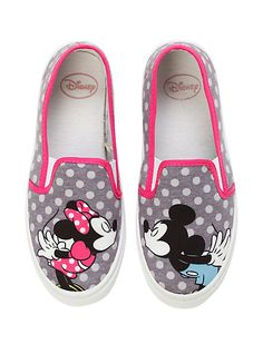 Disney Mickey & Minnie Mouse Kiss Slip-On Shoes | Hot Topic