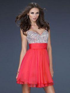 Nice A-Line Princess V-neck Short Mini Chiffon Homecoming Dresses