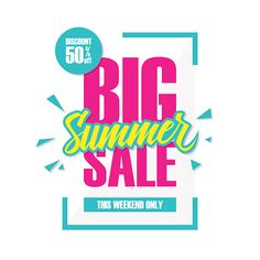 Vector Art : Big Summer Sale. This weekend special offer banner.