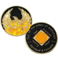 Doing It Sober - Phoenix - Out of the Ashes of Addiction Medallion. NEW!, $17.95 (http://www.doingitsober.com/phoenix-out-of-the-ashes-of-addiction-medallion-new/)