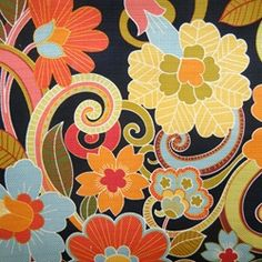 Zavalla-Madden Blackout Floral  Drapery Fabric by Swavelle