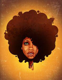 Like it! Curly, afro, ebony, black, kinky, wavy, rasta, natural hair...www.facebook.com/gonaturalspain