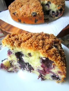 Blueberry Lemon Streusel Cake