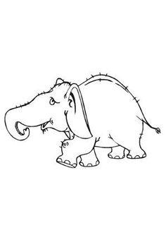 ausmalbild junger elefant zum ausmalen. #ausmalbilder | #