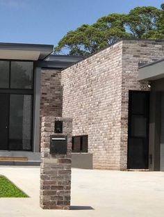 At Lohas Australia the reuse and recycling of handpicked existing materials allows us to produce and supply premium recycled bricks. Brick Cladding, Brick Facade, Brickwork, Facade House, Modern Brick House, Modern House Facades, Brick Projects, Prospect House, Recycling
