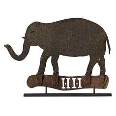 Sheet Metal Elephant Weathervane