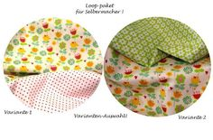 *Stoffpaket ♥Loop♥ Frühling1 für Selbermacher*   Bunte Blumen treffen auf   Minidots in weiss/rot *oder* Blümen/apfelgrün (Auswahl)       *für Selb...