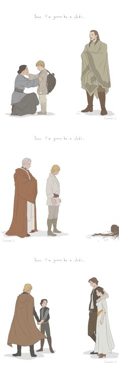 This is beautiful but also kinda sad. The attention to detail is really great. Like in the last one you can see Luke's beard.