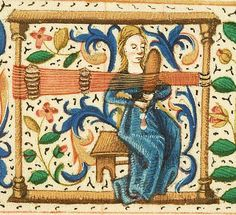 Medieval tablet weaving.