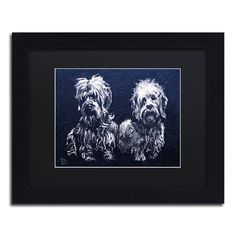Lowell S.V. Devin 'Alberta and Einstein' Matted Framed Art