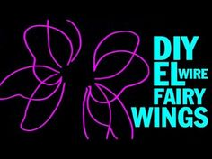 DIY EL Wire Fairy Wings and Wing Structure Tutorial - YouTube