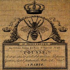 Queen Bee Bees French Handwriting Word Writing Crown by Graphique