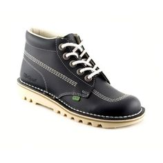 navy kickers stitched lace up boots, Debenhams