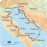 Italië, Kroatië, rondje Adriatische Zee