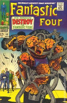 Fantastic Four (1961 1st Series) 68  Marvel Comics Modern Age Comic book covers Super Heroes  Villians  Sue Storm Reed Richards The Thing Human Torch Fantastic Four