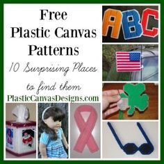 Free plastic canvas patterns are abundant, if you know a few places to look. Here are 10 surprising places to find patterns without spending a cent.