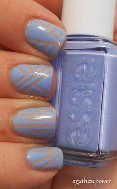 nude & blue - striping tape... Would be cute in other colors too!