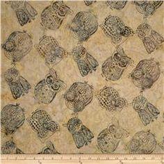 Tonga Batiks Owls Dune