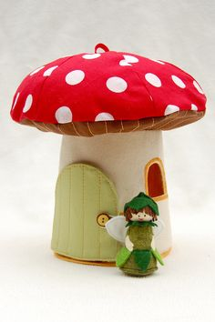 Toadstool House and Fairy Pattern