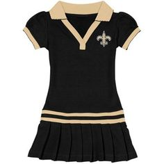 New Orleans Saints Women's Baby Jersey Dress - Black