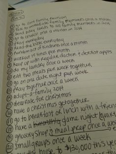 dreams & goals list - reddotstories