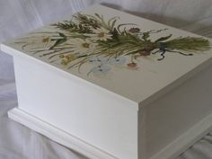 Custom Farmhouse Painted Furniture Cottage Shabby Chic Distressed Nature Designs Box Totes Planters - Painted Furniture Studio