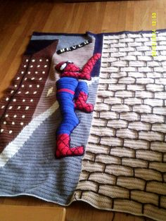 3D Spiderman Afghan. I made this for my grandson Nathan.