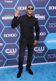What's up, Trigga? A dapper Trey Songz arrives at the 2014 Young Hollywood Awards on July 27 in Los Angeles