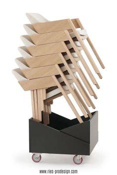 Stapelbare Designstühle aus Holz mit komfortabler Polsterung.  Sperrholz Lamelle mit sichtbaren Kanten bildet Sitzfläche und Rückenlehne. Niedrige, abfallende Armlehnen ermöglichen platzsparende  Position am Tisch.    Vielseitige Verwendung als Esstisch Stühle, Bankettstühle, Konferenzstuhl, Sessel Wohnzimmer     Erstinformation und Beratung unter  43 699 15990977.    Stühle aus europäischer Produktion.    #sitzmoebel, #konferenzstuhldesign, #RiesProDesign Esstisch Design, Magazine Rack, Cabinet, Interior Design, Storage, Furniture, Home Decor, Fine Dining, Banquet