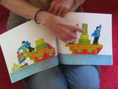 Changes, Changes by Pat Hutchins shows how a collection of blocks can transform into various things.  This website shows how one teacher used the book to inspire her students to stretch their building skills.  She used colored blocks, but you could use   whatever blocks you have.