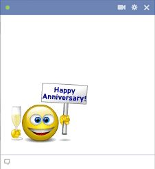 Happy anniversary smiley face for Facebook