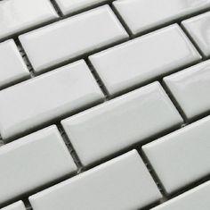 Home improvement white porcelain backsplash tile subway ceramic ...