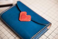 Genuine Leather Wallet Handmade Heart Cute Short Wallet Clutch Card Wallet Coin Purse Women