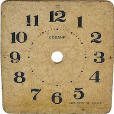 Printable Antique Clock Faces - lots of great crafting uses for these!