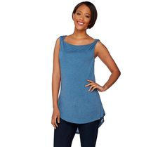 H by Halston Sleeveless Knit Top with Twist Shoulder Detail A276470 #HbyHalston #KnitTop