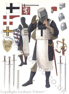 Teutonic Knight, 13th Century - Original Painting
