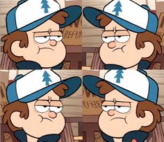 Dipper´s angry faces
