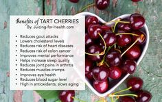 Lakewood tart cherry juice works really well for me - New Ideas Tart Cherry Benefits, Health Benefits Of Cherries, Benefits Of Organic Food, Oil Benefits, Tart Cherry Juice, Sour Cherry, Reduce Blood Sugar, Juicing For Health, Thing 1