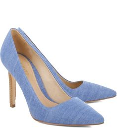 SCARPIN HIGH-HEEL JEANS BLUE