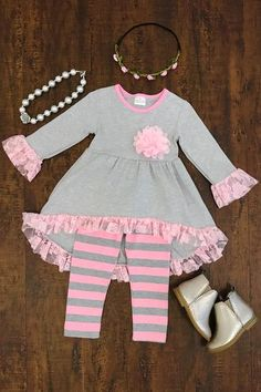 Our boutique kids outfits are perfect for any and everyday wear! Girls Fall Outfits, Little Girl Outfits, Cute Outfits For Kids, Baby Girl Dresses, Baby Dress, American Girl Clothes, Cute Baby Clothes, Toddler Dress, Boutique Clothing