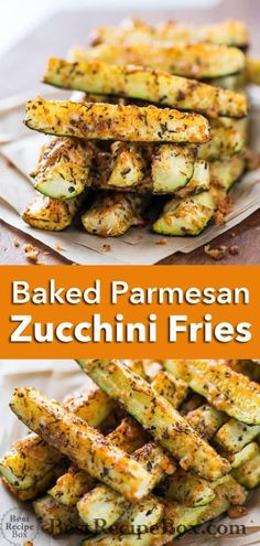 Great way to eat your veggies! These healthy baked parmesan zucchini fries are delicious and are crispy with parmesan cheese. Breaded Zucchini Parmesan Is Fried Until Crispy And Baked In A Casserole Dish With Layers Of Marinara Sauce And Mozzarella Cheese. Baked Zucchini Parmesan, Low Carb Zucchini Fries, Recipes With Parmesan Cheese, Zucchini Crisps, Zuchinni Recipes, Bake Zucchini, Healthy Zucchini, Recipe Zucchini, Zucchini Salad